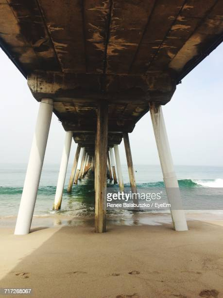 View Of Pier On Beach