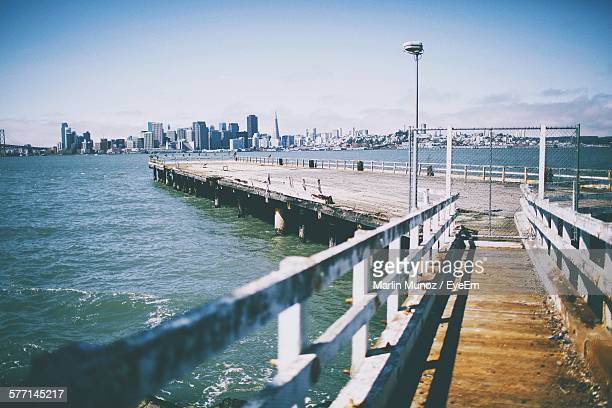 view of pier - treasure island san francisco stock pictures, royalty-free photos & images