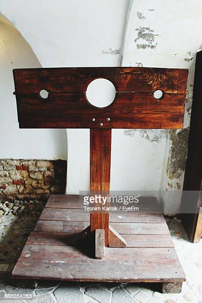 view of pillory - pillory stock pictures, royalty-free photos & images