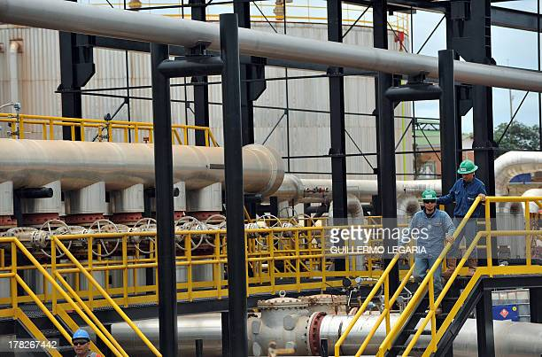 View of pipelines at Colombia's main oilfield Rubiales in Meta department Colombia on August 27 2013 AFP PHOTO/Guillermo Legaria