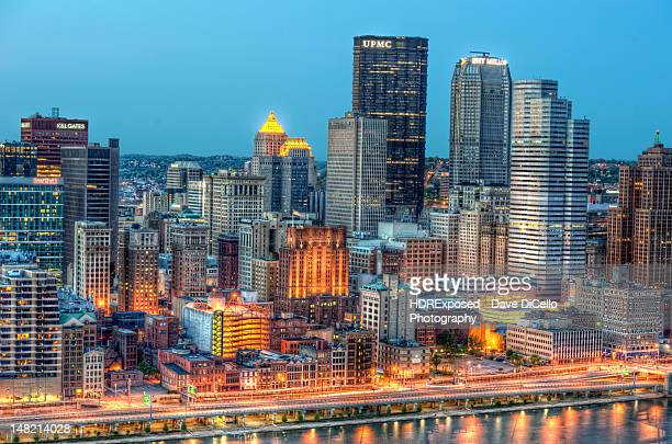 view of pittsburgh - pittsburgh stock pictures, royalty-free photos & images