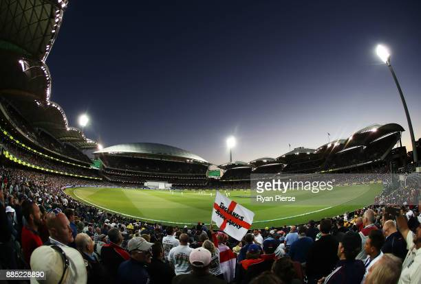A view of play from inside the Barmy Army during day three of the Second Test match during the 2017/18 Ashes Series between Australia and England at...