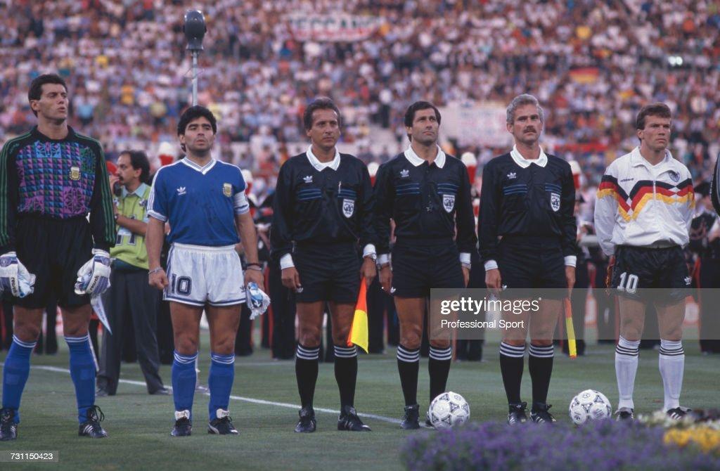 1990 FIFA World Cup Final : News Photo