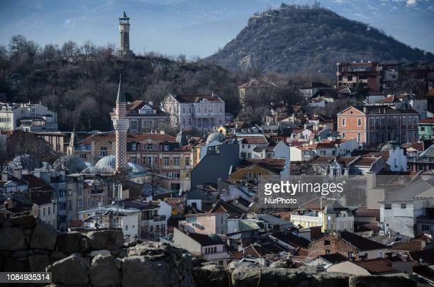 A view of Plovdiv with the Rhodope mountains in the background on 18 January 2019 Plovdiv is the first Bulgarian city chosen to be European Capital...