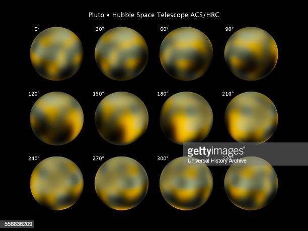 View of Pluto artist's impression based on 2015 NASA image
