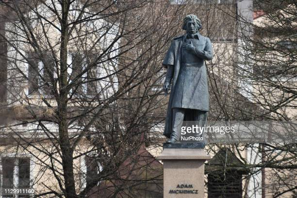 A view of Polish national poet Adam Mickiewicz monument in Rzeszow On Monday March 10 in Rzeszow Podkarpackie voivodeship Poland