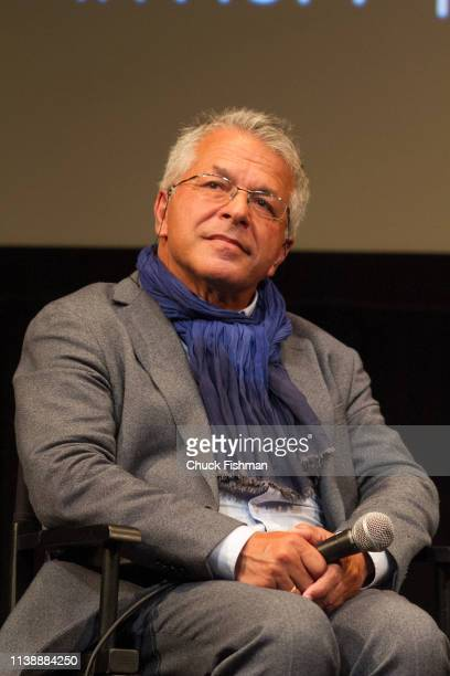 View of Polishborn cinematographer Slawomir Grunberg during a panel discussion at the New York Jewish Film Festival 2019 in Lincoln Center New York...