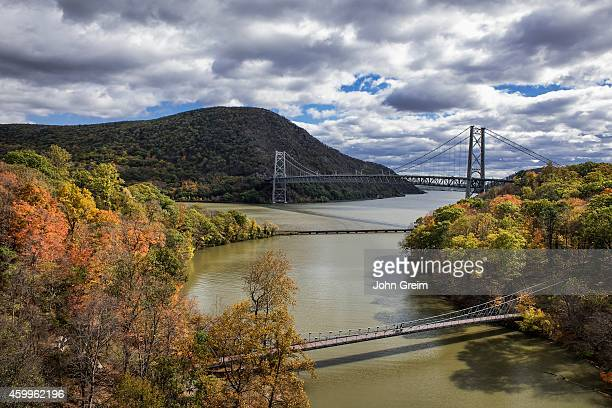 View of Popolopen Creek feeding into the Hudson River