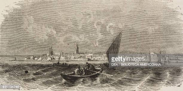 View of Porec Croatia drawing by Eugene Grandsire from a sketch by Yriarte from Trieste and Istria by Charles Yriarte from Il Giro del mondo Journal...