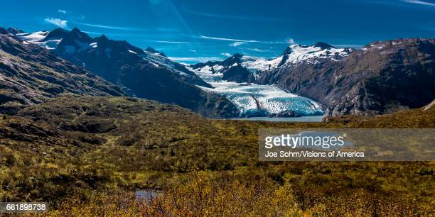View Of Portage Glacier From Portage Pass Sc Alaska Summer