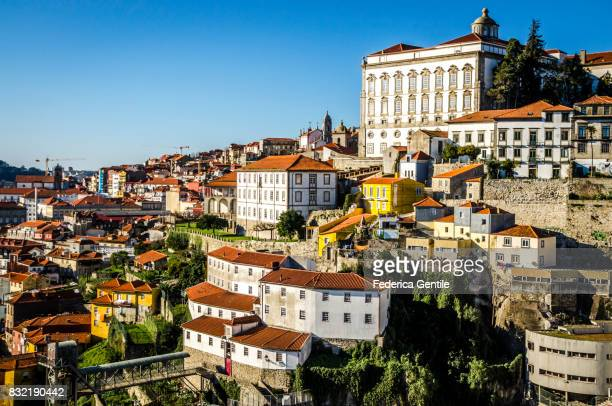 view of porto from dom luís i bridge - porto portugal stock pictures, royalty-free photos & images