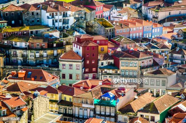view of porto from the top - porto portugal stock pictures, royalty-free photos & images