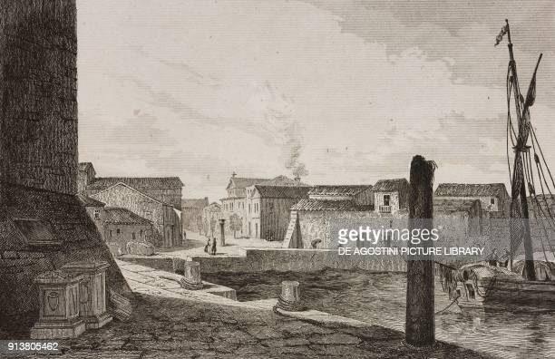 View of Porto Torres Sardinia Italy engraving by Lemaitre from Espagne by Joseph Lavallee Iles Baleares et Pithyuses by Frederic Lacroix Sardaigne by...