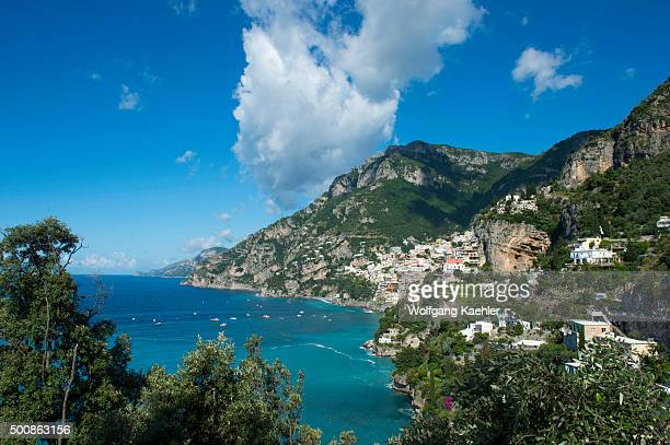 View of Positano a town on the Amalfi Coast Italy