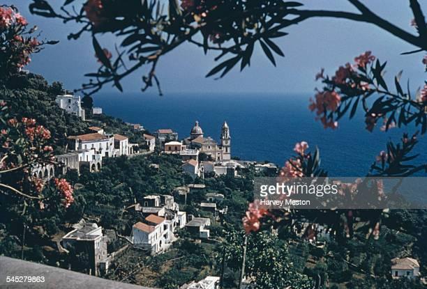 A view of Positano on the Amalfi Coast Italy circa 1960