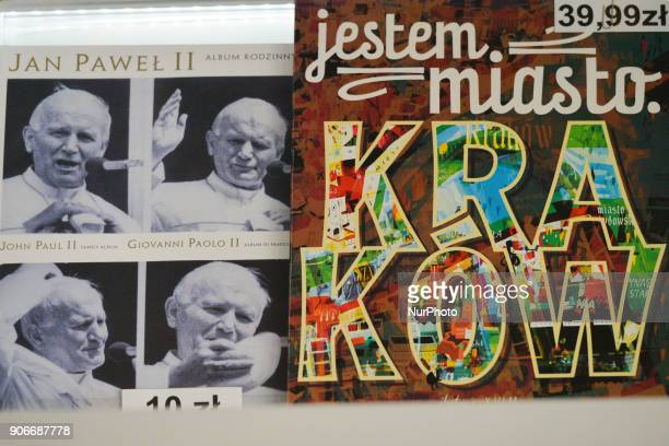 A view of posters for sale inside a local Tourism Office On Wednesday 17 January 2018 in Krakow Poland