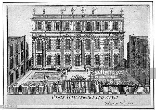 View of Powis House Great Ormond Street Bloomsbury London c1720 The house was at this time the French Embassy