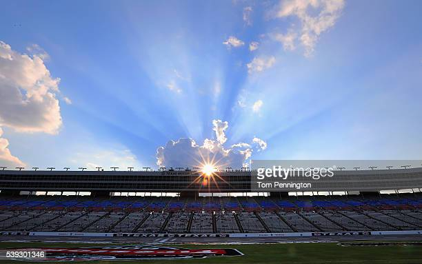 A view of practice for the Verizon IndyCar Series Firestone 600 at Texas Motor Speedway on June 10 2016 in Fort Worth Texas