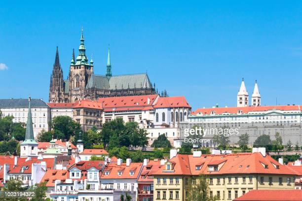 view of prague city, architecture and buildings, czech republic - unesco welterbestätte stock-fotos und bilder