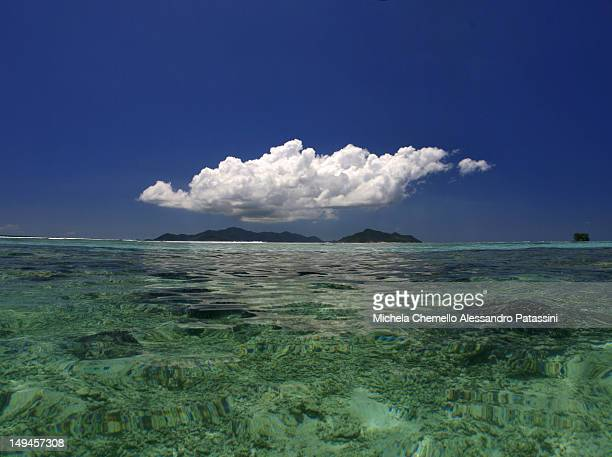 View of Praslin from Anse Source d'Argent - La Dig