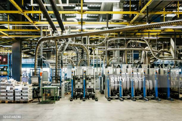 view of printing factory machinery - printing press stock pictures, royalty-free photos & images