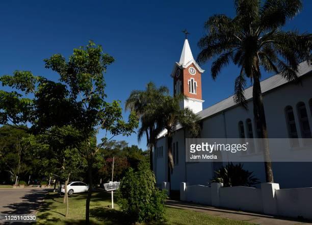 View of Progreso town Church where Emiliano Sala's funeral will take place on February 15 2019 in Progreso Argentina 28yearold striker was killed...