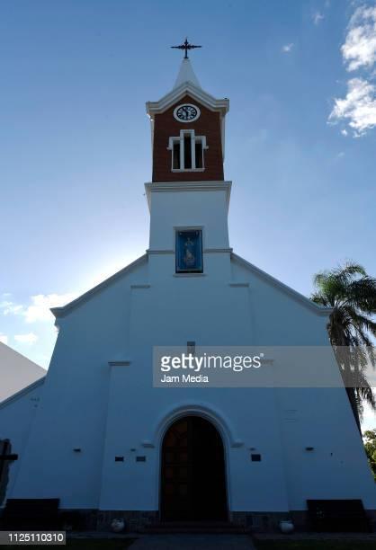 View of Progreso's town Church where Emiliano Sala's funeral will take place on February 15 2019 in Progreso Argentina 28yearold striker was killed...