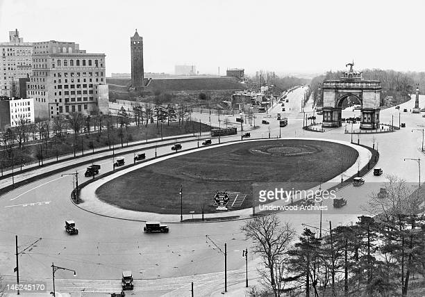 A view of Prospect Park Plaza in Brooklyn New York New York late 1920s