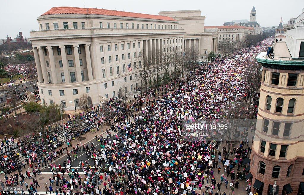 Women's March on Washington - March : News Photo
