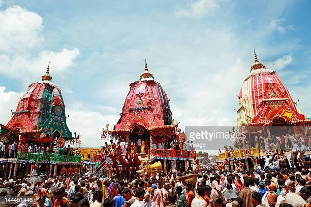 view of puri jagannadh radh yatra, orissa - odisha - fotografias e filmes do acervo