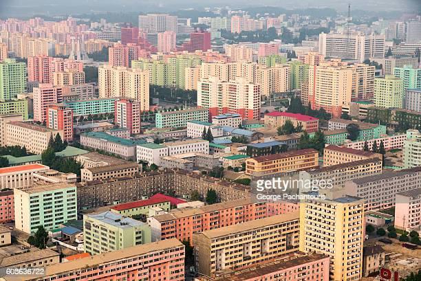 View of Pyongyang, North Korea