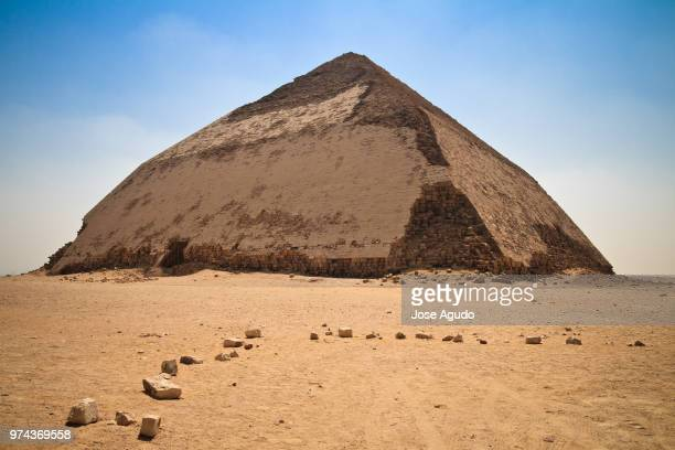 view of pyramid, egypt - old ruin stock photos and pictures