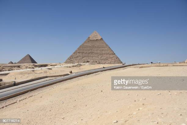 View Of Pyramid Of Khafre Against Clear Sky