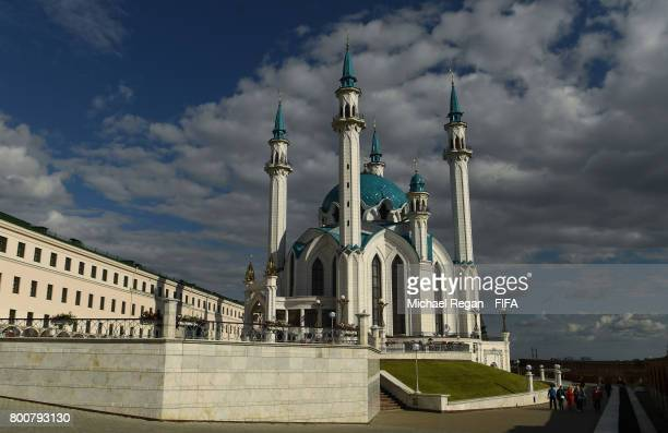 A view of Qolsarif Mosque in the Kazan Kremlin during the Confederations Cup on June 25 2017 in Kazan Russia