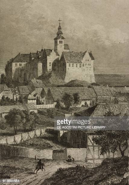 View of Quedlinburg Germany engraving by Lemaitre from Etats de la Confederation Germanique by Le Bas L'Univers pittoresque published by Firmin Didot...