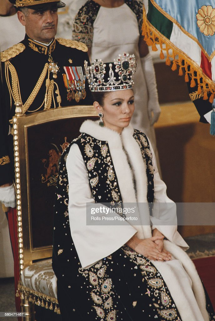 Queen Farah Pahlavi At Coronation Of Shah Of Iran : News Photo