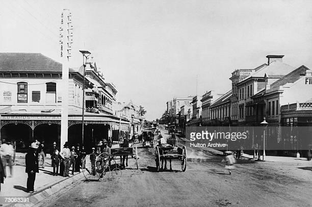 A view of Queen Street Brisbane Queensland Australia circa 1860