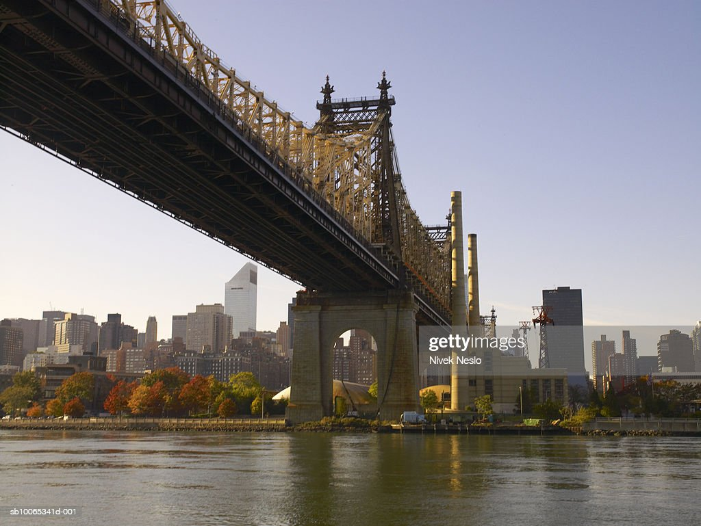 View of Queensboro bridge : Foto stock