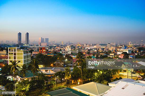 View of Quezon City skyline at dawn