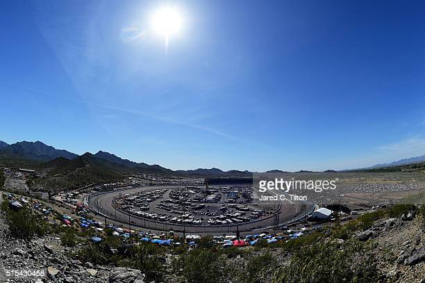 View of race action during the NASCAR Sprint Cup Series Good Sam 500 at Phoenix International Raceway on March 13, 2016 in Avondale, Arizona.