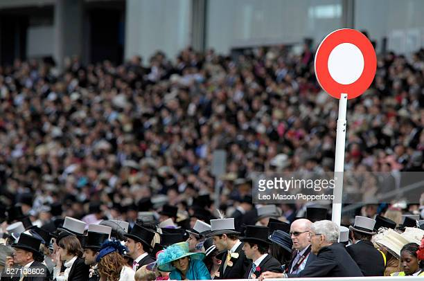 View of racegoers enjoying the day in the Royal Enclosure before racing during the 2010 Royal Ascot race meeting at Ascot Racecourse Ascot England on...