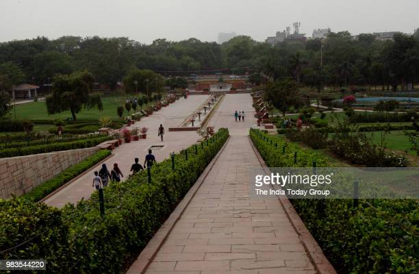 A view of Raj Ghat in New Delhi