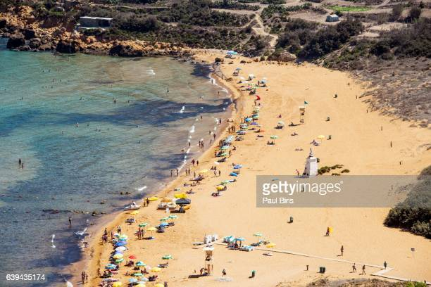 View of Ramla Bay beach, Gozo, Malta