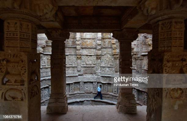 A view of Rani Ki Vav a stepwell in the small Gujarat town of Patan on October 29 2018 in Patan India It recognised as a UNESCO World Heritage Site...