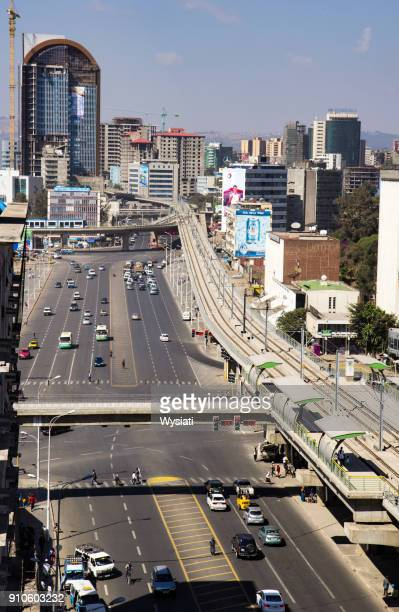 view of ras mekonen street - addis ababa stock pictures, royalty-free photos & images
