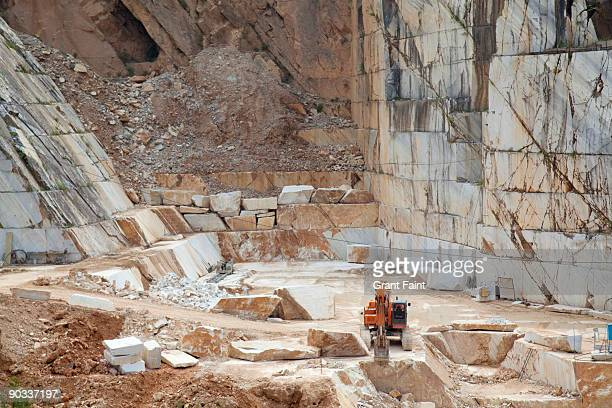 view of raw marble quarry