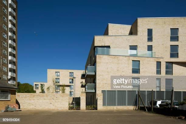 View of rear of housing scheme Hicks Bolton Bond Housing Scheme London United Kingdom Architect Rick Mather Architects 2015
