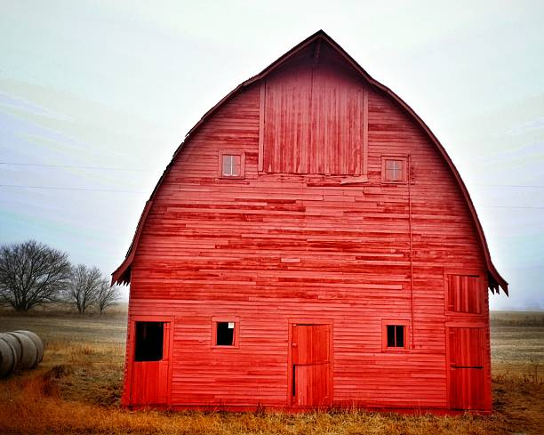 View Of Red Barn Wall Art