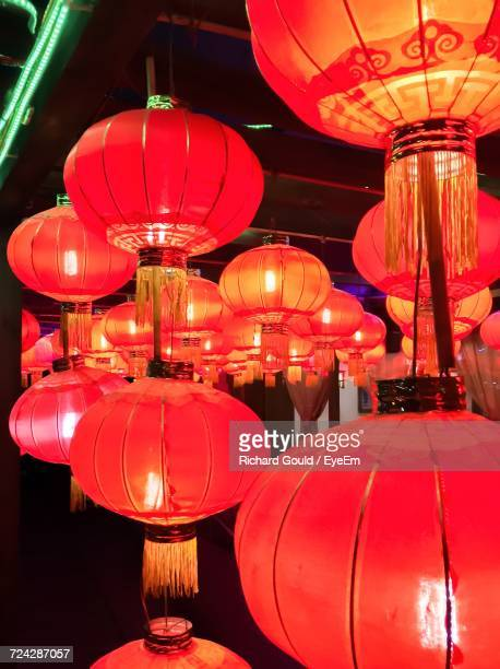 View Of Red Chinese Lanterns