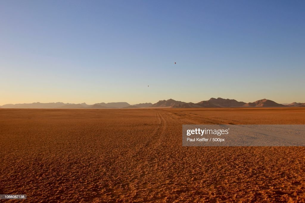 View of red desert : Stock Photo